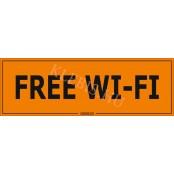 Free Wi-Fi matrica, 30×10 cm