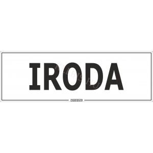 Iroda matrica, 30×10 cm