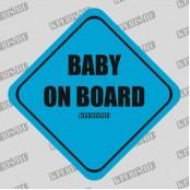 Baby on board autómatrica, mágnesfólia 10×10 cm-től