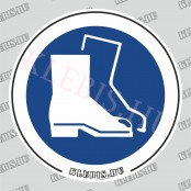 Lábvédő használata kötelező matrica, 10×10 cm