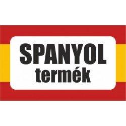 Spanyol termék, származási országot jelölő - matrica, tábla 10×6 cm-től