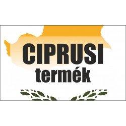Ciprusi termék, származási országot jelölő - matrica, tábla 10×6 cm-től