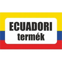 Ecuadori termék, származási országot jelölő - matrica, tábla 10×6 cm-től