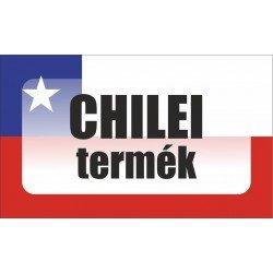 Chilei termék, származási országot jelölő - matrica, tábla 10×6 cm-től