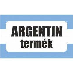 Argentin termék, származási országot jelölő - matrica, tábla 10×6 cm-től