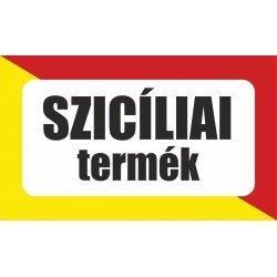 Szicíliai termék, származási országot jelölő - matrica, tábla 10×6 cm-től