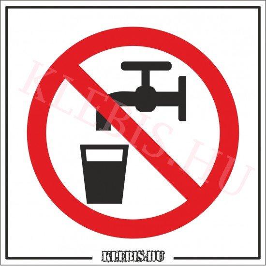 Nem ivóvíz matrica, 10×10 cm