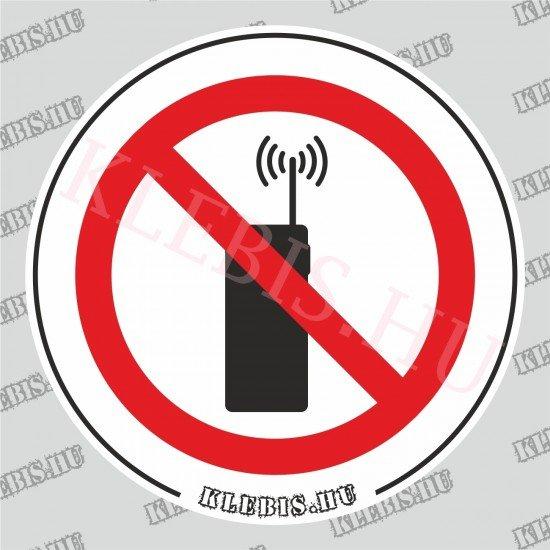Rádiótelefon használata tilos matrica, 10×10 cm
