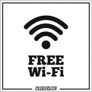 Free Wi-Fi 3 vagy 5 mm-es műanyag tábla, 10×10 cm-től