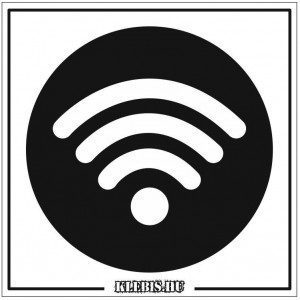 Wifi jel öntapadós matrica, 10×10 cm-től