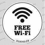 Free Wi-Fi öntapadós matrica, 10×10 cm-től
