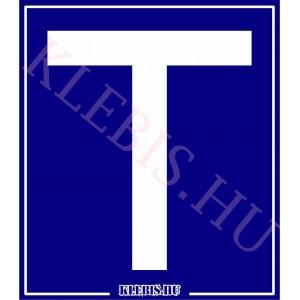 T betű - Tanulóvezető öntapadós matrica 10×11 cm-től