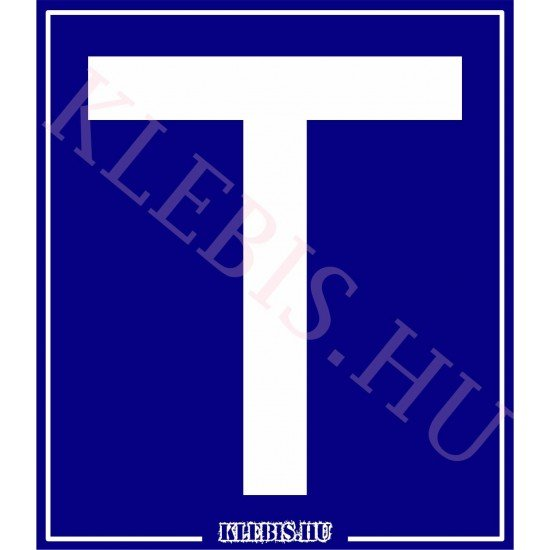 T betű - Tanulóvezető 3 mm műanyag tábla 10×11 cm-től