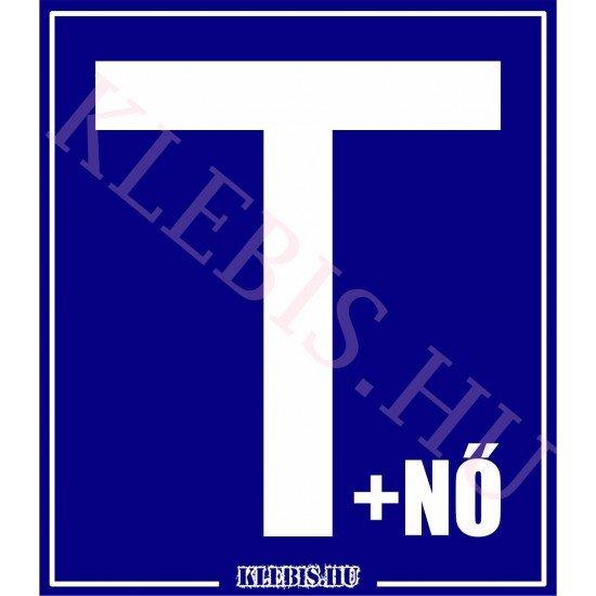 T betű + nő - Tanulóvezető mágnesfólia 10×11 cm-től