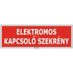 Elektromos kapcsoló szekrény matrica, 30×10 cm