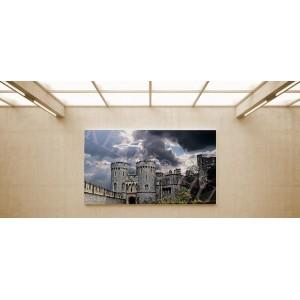 Középkori épület - vászonkép, vászonfotó, vakráma 45 × 30 cm