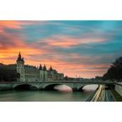 Párizsi híd - vászonkép, vászonfotó, vakráma 45 × 30 cm