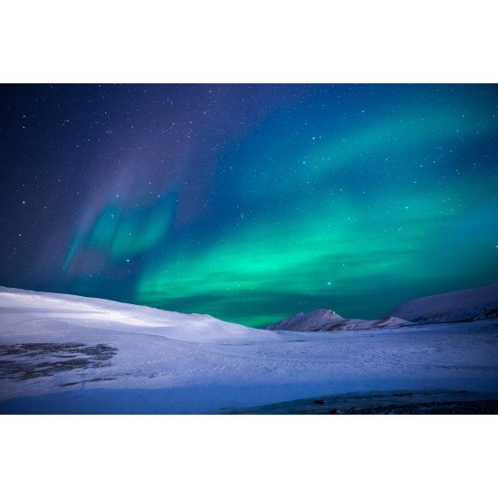Aurora fény - vászonkép, vászonfotó, vakráma 45 × 30 cm