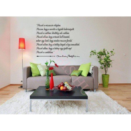 Hiszek a rózsaszín világban falmatrica 95 × 74 cm