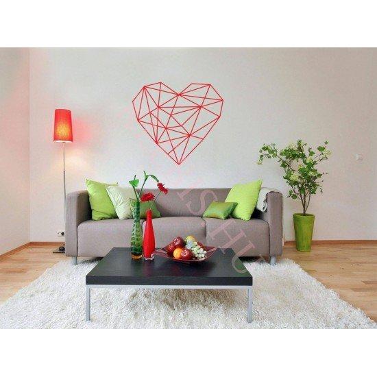 Piros szív falmatrica 86,5 × 95 cm