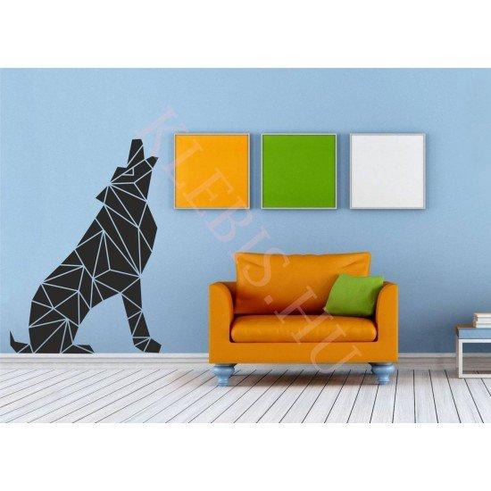 Színezett kutya falmatrica 67 × 95 cm