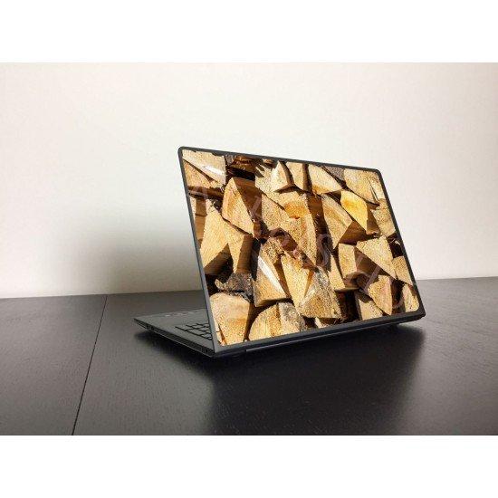 Tűzifa laptop matrica